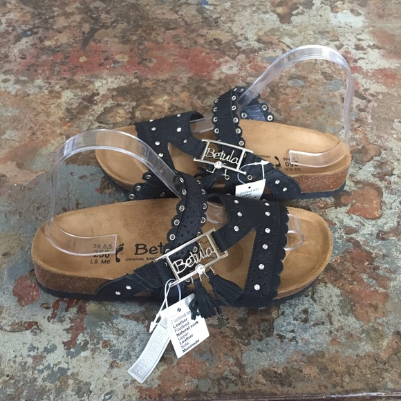 340acbab2 Birkenstock 39 Sandals Swarovski Crystal Black